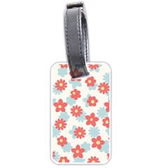 Flower Pink Luggage Tags (one Side)  by Jojostore