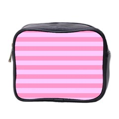 Fabric Baby Pink Shades Pale Mini Toiletries Bag 2 Side