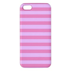 Fabric Baby Pink Shades Pale Apple Iphone 5 Premium Hardshell Case