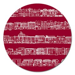 City Building Red Magnet 5  (round) by Jojostore