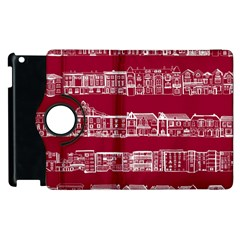 City Building Red Apple Ipad 2 Flip 360 Case