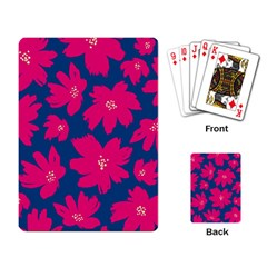 Flower Red Blue Playing Card