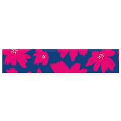 Flower Red Blue Flano Scarf (small)