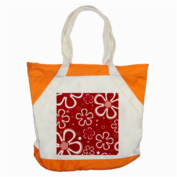 Flower Red Cute Accent Tote Bag