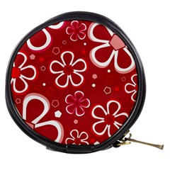 Flower Red Cute Mini Makeup Bags by Jojostore