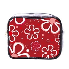 Flower Red Cute Mini Toiletries Bags