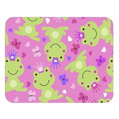 Frog Princes Double Sided Flano Blanket (large)