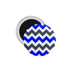 Grey And Blue Chevron 1 75  Magnets