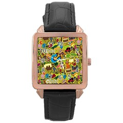 C Pattern Rose Gold Leather Watch  by Jojostore