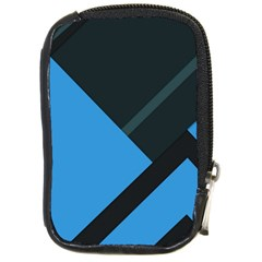 Lines Textur  Stripes Blue Compact Camera Cases by Jojostore