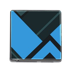 Lines Textur  Stripes Blue Memory Card Reader (square) by Jojostore