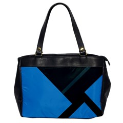 Lines Textur  Stripes Blue Office Handbags by Jojostore