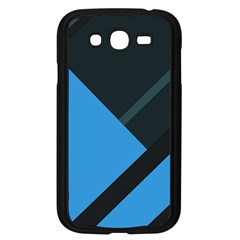 Lines Textur  Stripes Blue Samsung Galaxy Grand Duos I9082 Case (black) by Jojostore