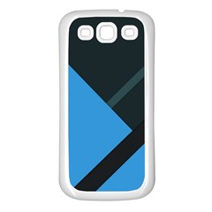 Lines Textur  Stripes Blue Samsung Galaxy S3 Back Case (white) by Jojostore