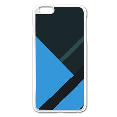 Lines Textur  Stripes Blue Apple Iphone 6 Plus/6s Plus Enamel White Case by Jojostore