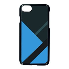 Lines Textur  Stripes Blue Apple Iphone 7 Seamless Case (black) by Jojostore
