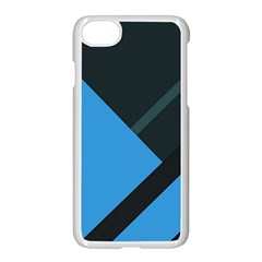 Lines Textur  Stripes Blue Apple Iphone 7 Seamless Case (white) by Jojostore