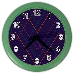 Line Color Color Wall Clocks by Jojostore