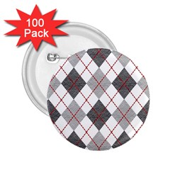Fabric Texture Argyle Design Grey 2 25  Buttons (100 Pack)  by Jojostore