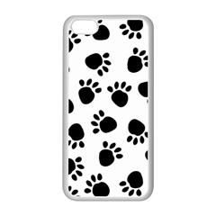Paws Black Animals Apple Iphone 5c Seamless Case (white)