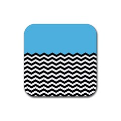 Color Block Jpeg Rubber Square Coaster (4 Pack)  by Jojostore
