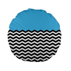 Color Block Jpeg Standard 15  Premium Flano Round Cushions