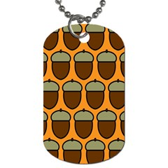 Acorn Orang Dog Tag (two Sides)