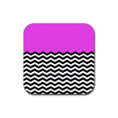 Colorblock Chevron Pattern Jpeg Rubber Square Coaster (4 Pack)  by Jojostore