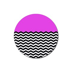 Colorblock Chevron Pattern Jpeg Rubber Round Coaster (4 Pack)  by Jojostore