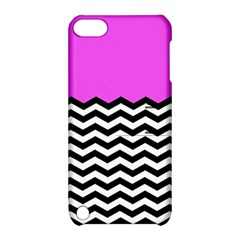 Colorblock Chevron Pattern Jpeg Apple Ipod Touch 5 Hardshell Case With Stand