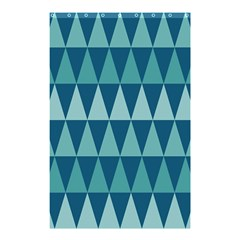 Blues Long Triangle Geometric Tribal Background Shower Curtain 48  X 72  (small)  by Jojostore