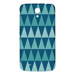 Blues Long Triangle Geometric Tribal Background Samsung Galaxy Mega I9200 Hardshell Back Case by Jojostore