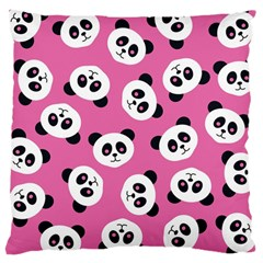 Cute Panda Pink Large Cushion Case (two Sides) by Jojostore