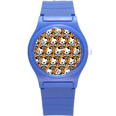 Face Cat Yellow Cute Round Plastic Sport Watch (s) by Jojostore