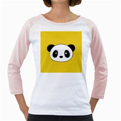 Face Panda Cute Girly Raglans by Jojostore