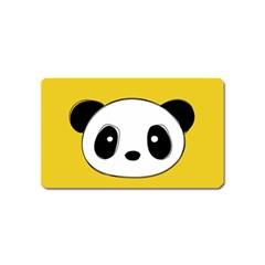 Face Panda Cute Magnet (name Card) by Jojostore