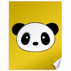 Face Panda Cute Canvas 18  X 24   by Jojostore
