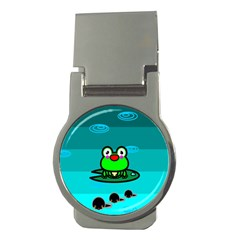 Frog Tadpole Green Money Clips (round)