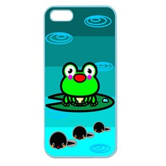 Frog Tadpole Green Apple Seamless Iphone 5 Case (color)