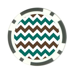 Green Chevron Poker Chip Card Guards