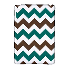 Green Chevron Apple Ipad Mini Hardshell Case (compatible With Smart Cover)