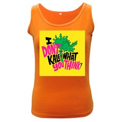 Idont Kale Think Women s Dark Tank Top by Jojostore