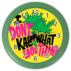 Idont Kale Think Color Wall Clocks by Jojostore