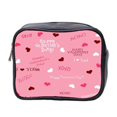 Happy Valentines Day Mini Toiletries Bag 2 Side