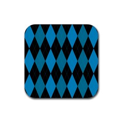 Fabric Background Rubber Square Coaster (4 Pack)  by Jojostore