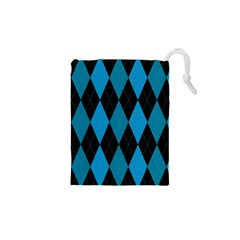 Fabric Background Drawstring Pouches (xs)