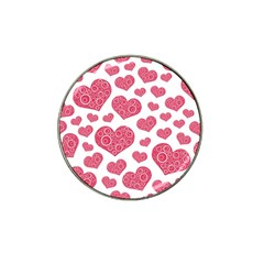 Heart Love Pink Back Hat Clip Ball Marker (10 Pack) by Jojostore