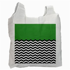 Lime Green Chevron Recycle Bag (one Side) by Jojostore