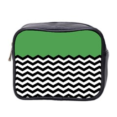Lime Green Chevron Mini Toiletries Bag 2 Side