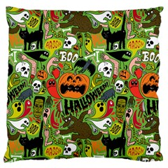 Halloween Pattern Large Flano Cushion Case (one Side) by Jojostore